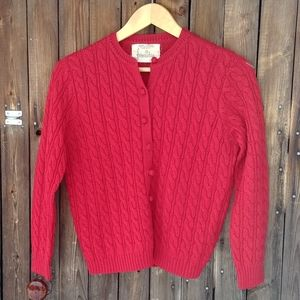 Vintage 70s Foxridge wool button cardigan sweater